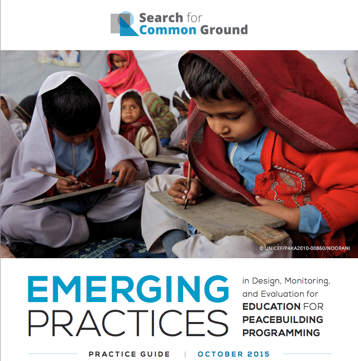 Emerging Practices in Design, Monitoring, and Evaluation of Education for Peacebuilding Programming