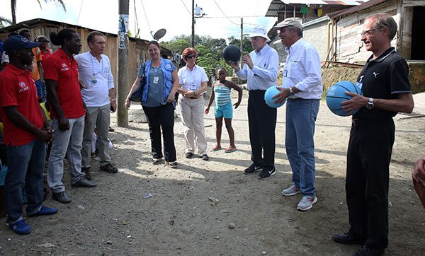 UN Secretary-General's Special Envoy for Youth Refugees and Sport wraps up humanitarian mission in Colombia
