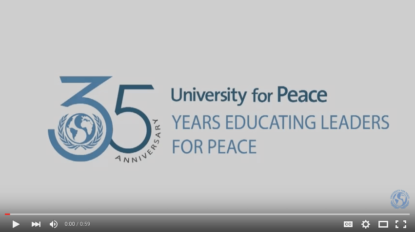 Ban Ki-moon congratulates UPEACE on its 35th Anniversary