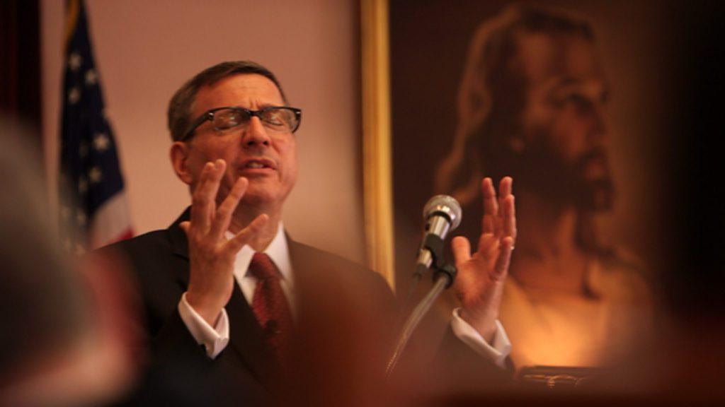 Rob Schenck preaching. (Photo: Jeff Hutchens)