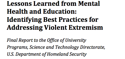 Integrating Mental Health and Education Fields into Countering Violent Extremism