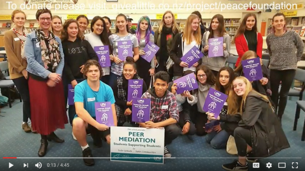 Project to get Peer Mediation in every school launched in New Zealand