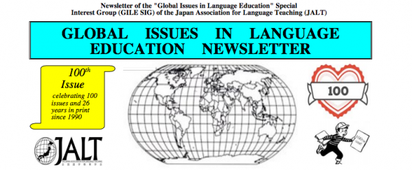 The Global Issues in Language Education Special Interest Group celebrates the publication of the 100th edition of their newsletter