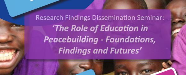 The Role of Education in Peacebuilding - Amsterdam Dissemination Event