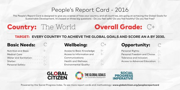 The People's Report Card: Assessing the Sustainable Development Goals