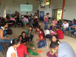 Educators participating in a peace education training led by Fundacion Escuelas de Paz on October 12 in San Vicente del Caguan.