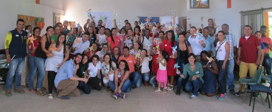 Participants of the peace education training led by Fundacion Escuelas de Paz  in San Vicente del Caguan.