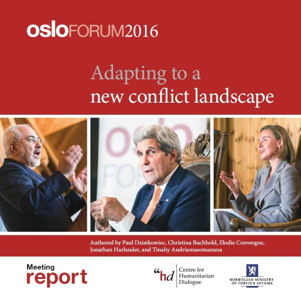 New Publication – The Oslo Forum 2016 Meeting Report