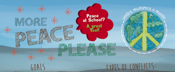 More Peace Please: Brazilian youth create posters for a school-wide ethics campaign