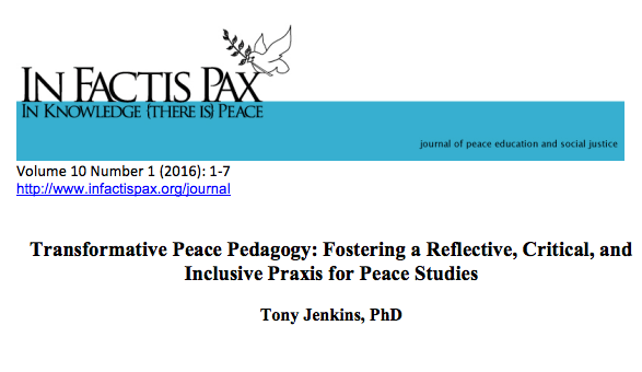 Transformative Peace Pedagogy: Fostering a Reflective, Critical, and Inclusive Praxis for Peace Studies