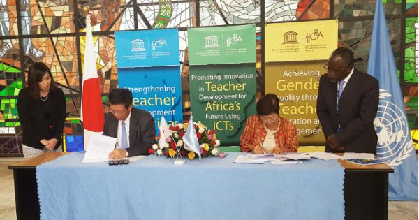 Japan - IICBA Signing Ceremony for the project 'Teacher Training and Development for Peace-Building in the Horn of Africa and Surrounding Countries
