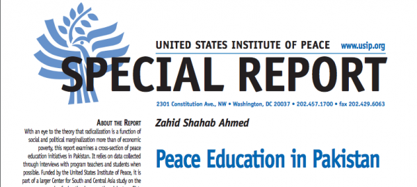 Peace Education in Pakistan