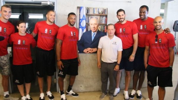 NBA stars in Israel to promote peace through basketball